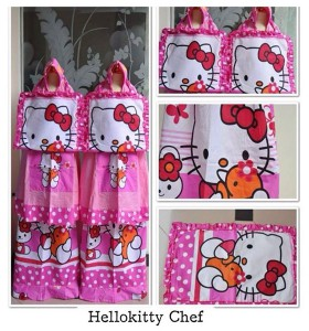 Mukena Anak Hello Kitty Chef (S,M,L,XL,XXL)