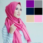 Jilbab Pashmina Diamond Georgette Cutting