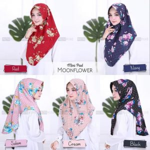 Jilbab Instan Mini Pad Moonflower